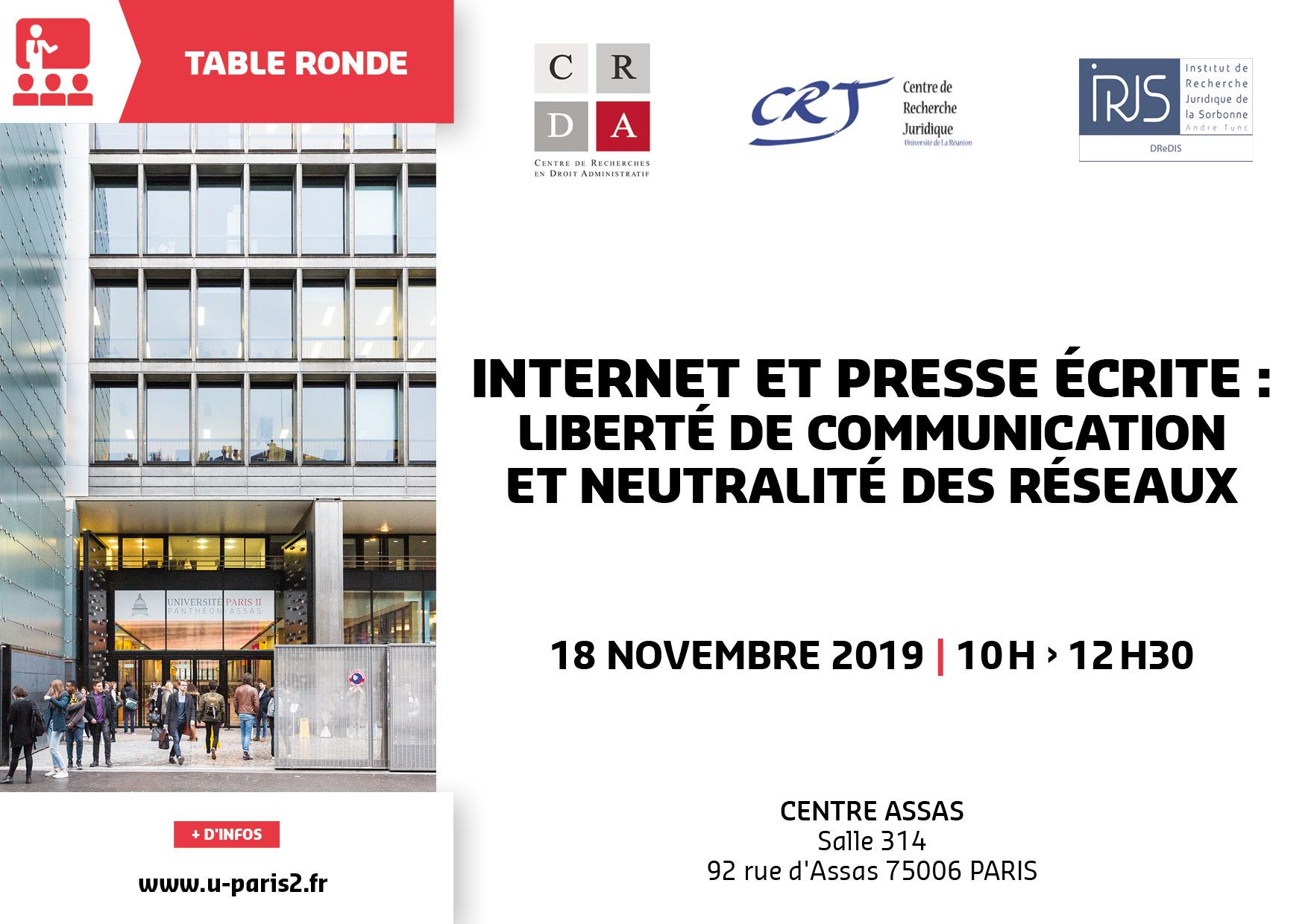 Affiche internet et presse : liberté de communication et neutralité des réseaux