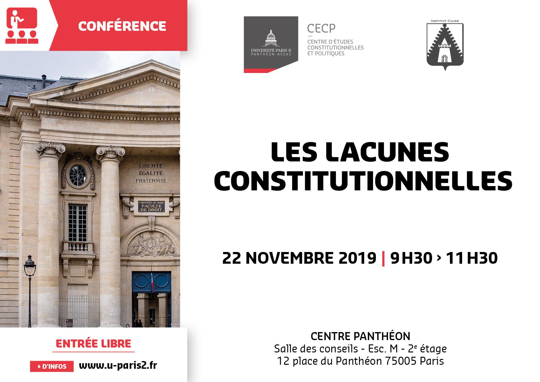Affiche CECP Les lacunes constitutionnelles