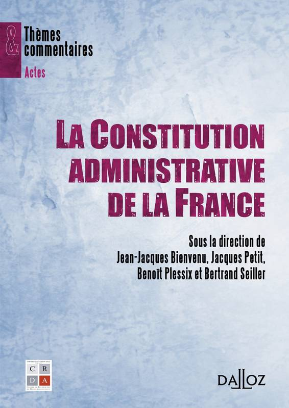 couverture constitution adlinistrative de la France