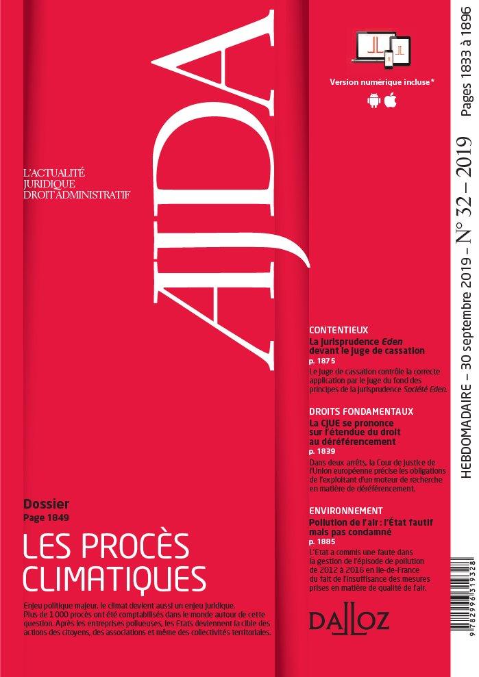 couverture AJDA - numéro 32