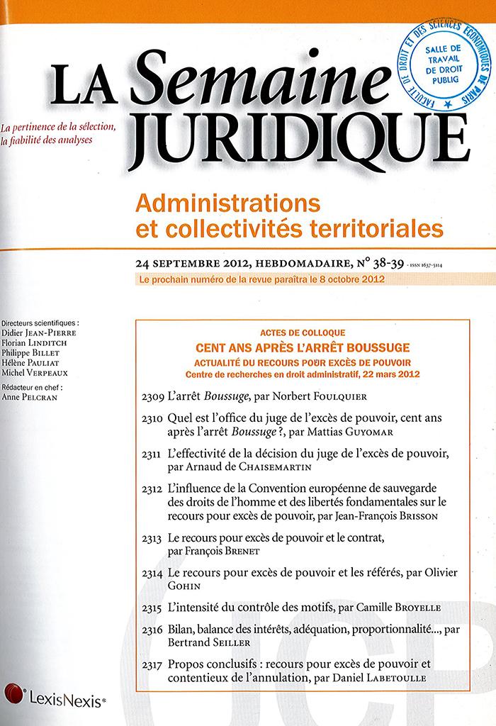 couverture JCP 2012