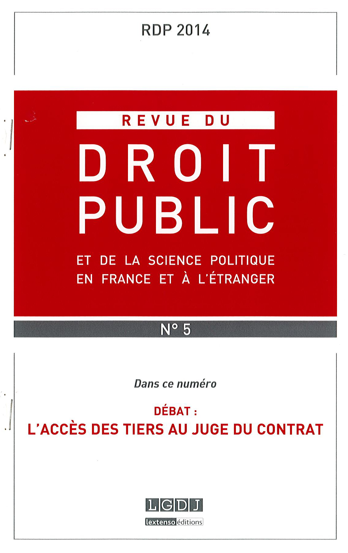 couverture RDP 2014 N°5