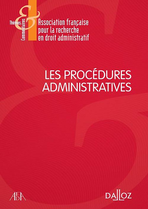 Couverture AFDA - les procédures administratives 2015